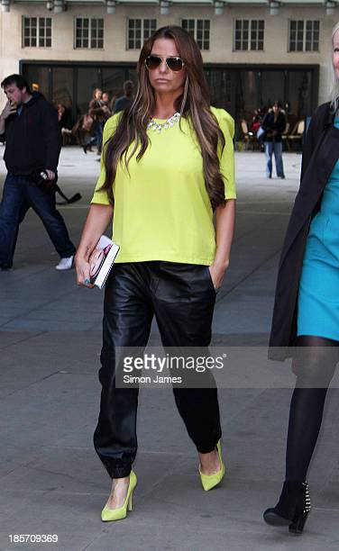Katie Price sighting at the BBC on October 24 2013 in London England