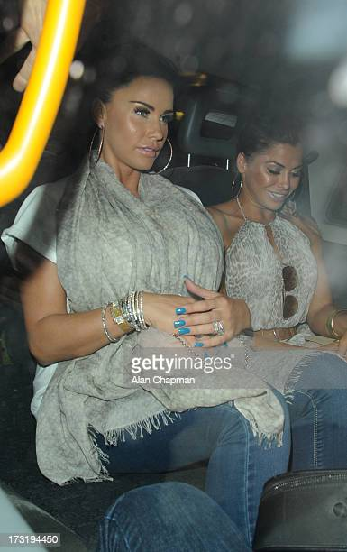 Katie Price sighting at the Easilocks launch Soho Sanctum Hotel on July 9 2013 in London England