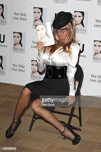 Katie Price signs copies of her new book 'You Only Live Once' at Waterstone's Piccadilly on October 28 2010 in London England