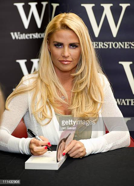 Katie Price signs copies of her new book 'You Only Live Once' at Waterstone's Basildon on April 2, 2011 in Basildon, England.
