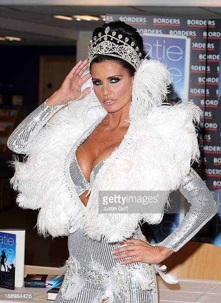 Katie Price Signs Her New Book 'Angel Uncovered' At Borders Bookstore On Oxford Street Central London