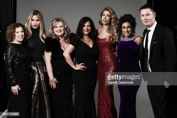 Katie Price Stacey Solomon Saira Khan and guests attend the National Television Awards Portrait Studio at The O2 Arena on January 25 2017 in London...