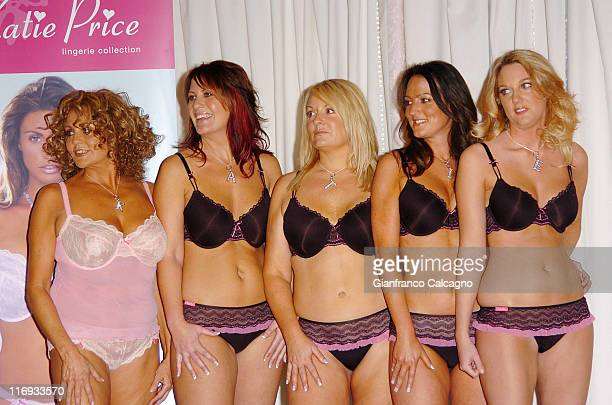 Katie Price's Mother Amy and Models during Katie Price Launches Her New Lingerie Range Photocall at The Worx in London Great Britain