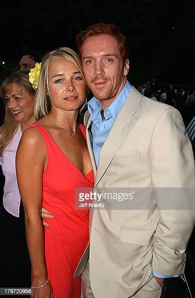 Katie Razzall Damian Lewis during HBO's Band of Brothers Hollywood Premiere at Hollywood Bowl in Hollywood California United States