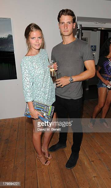 Katie Redman and Tom Warren attends the VIP launch of the 'Hand To Earth' exhibition hosted by Matthew Williamson at Scream Gallery on September 5,...