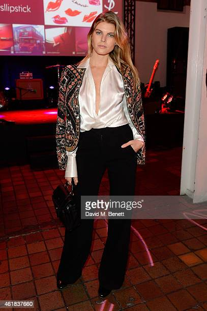 Katie Redman attends the YSL Beaute Makeup Celebration 'YSL Loves Your Lips' in the presence of Cara Delevingne at The Boiler House,The Old Truman...