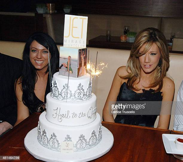 Katie Rees and Her Cake during Former Miss Nevada Katie Rees' Pre Miss JET Crowning Dinner At STACK Restaurant At The Mirage Hotel and Casino Resort...