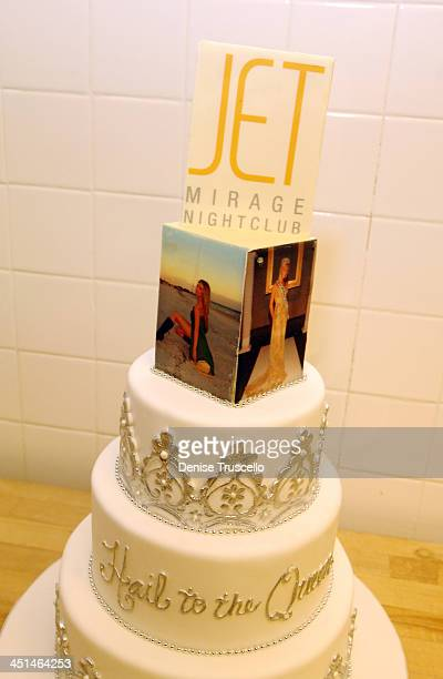 Katie Rees' Cake during Former Miss Nevada Katie Rees' Pre Miss JET Crowning Dinner At STACK Restaurant At The Mirage Hotel and Casino Resort at...