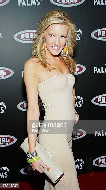 Katie Rees former Miss Nevada USA 2007 arrives at a Gwen Stefani concert serving as the grand opening of The Pearl concert theater at the Palms...