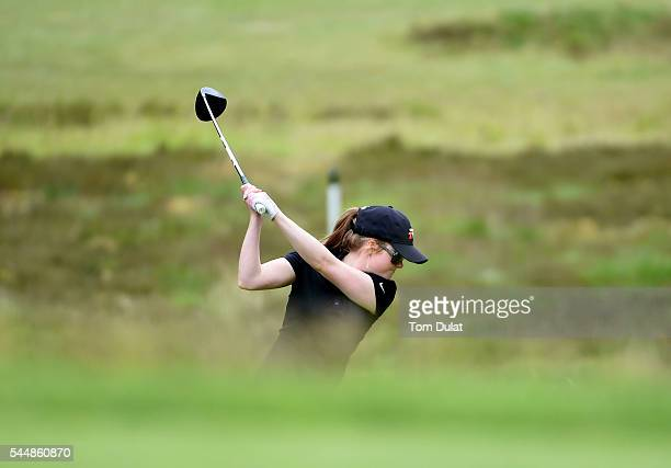 Katie Rule of Mullion Golf Club tees off from the 3rd hole during the WPGA Lombard Trophy National ProAm South Regional Qualifier at Camberley Heath...