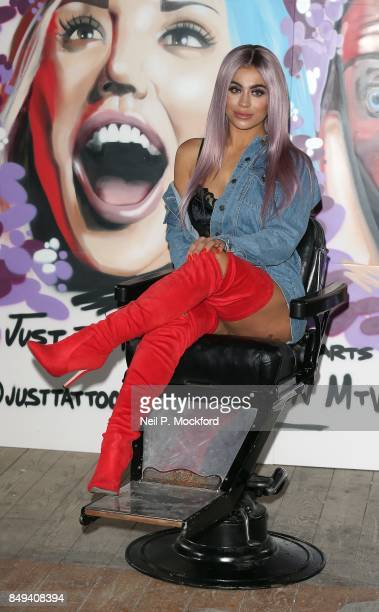 Katie Salmon at the 'Just Tattoo Of Us Can You Deal With The Reveal' popup tattoo parlour on September 19 2017 in London United Kingdom