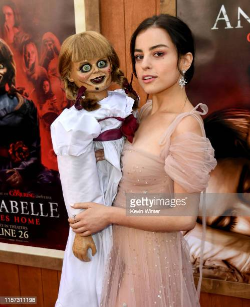 Katie Sarife arrives at the premiere of Warner Bros Pictures and New Line Cinema's Annabelle Comes Home at Regency Village Theatre on June 20 2019 in...