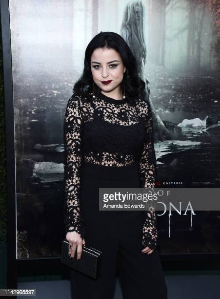 Katie Sarife arrives at the premiere of Warner Bros' The Curse Of La Llorona at the Egyptian Theatre on April 15 2019 in Hollywood California