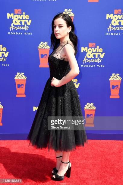 Katie Sarife attends the 2019 MTV Movie and TV Awards at Barker Hangar on June 15 2019 in Santa Monica California