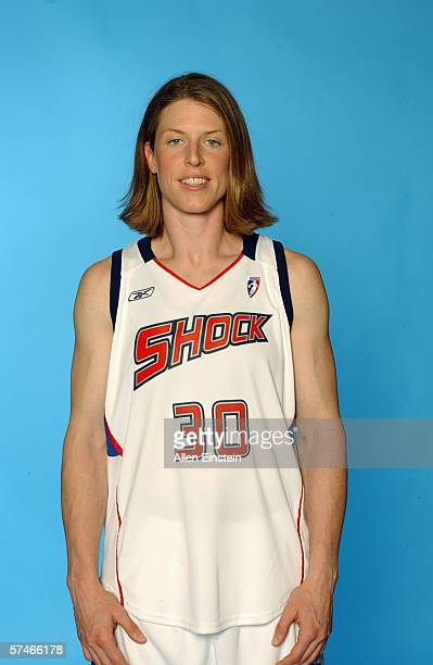 the best attitude 17c02 b2858 Katie Smith of the Detroit Shock poses for a photograph during the Detroit  Shock media day
