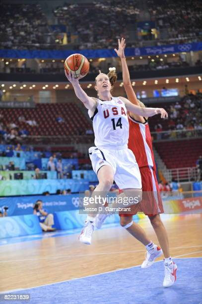 Katie Smith of the U.S. Women's Senior National Team against the Czech Republic during day one of basketball at the 2008 Beijing Summer Olympics on...
