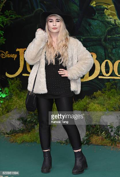 Katie Snooks arrives for the European premiere of 'The Jungle Book' at BFI IMAX on April 13 2016 in London England
