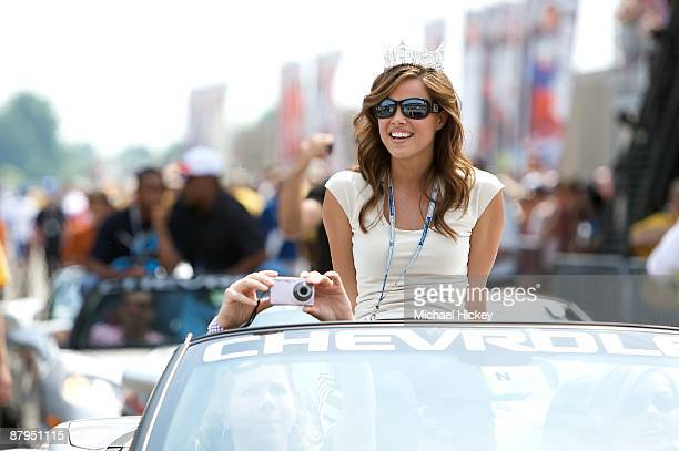 Katie Stam attends the 93rd running of the Indianapolis 500 at Indianapolis Motor Speedway on May 24, 2009 in Indianapolis, Indiana.