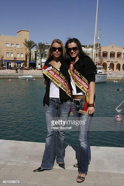 Katie Steiner Blanca Starke Miss Niedersachsen Teilnehmerinnen der Ausflugsreise zum Missen Camp für die Miss Germany Wahl 2007 El Gouna Ägypten...