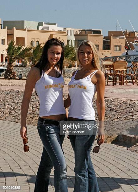 Katie Steiner Blanca Starke Teilnehmerinnen der Ausflugsreise zum Missen Camp für die Miss Germany Wahl 2007 El Gouna Ägypten Afrika Sonnenbrille...