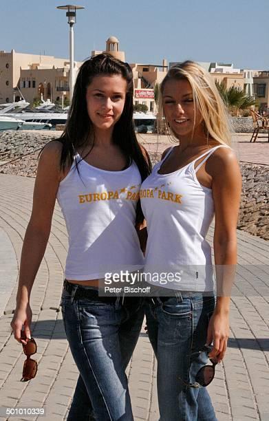 Katie Steiner Blanca Starke Teilnehmerinnen der Ausflugsreise zum Missen Camp für die 'Miss Germany Wahl 2007' El Gouna Ägypten Afrika Sonnenbrille...