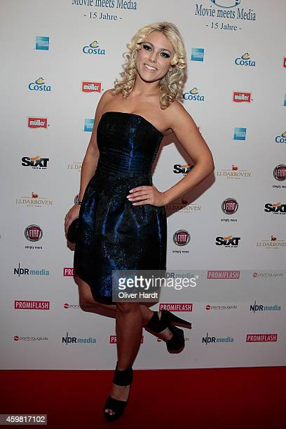 Katie Steiner poses during the event 'Movie Meets Media' at Hotel Atlantic on December 1 2014 in Hamburg Germany