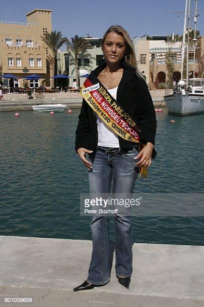 Katie Steiner Teilnehmerin der Ausflugsreise zum Missen Camp für die Miss Germany Wahl 2007 El Gouna Ägypten Afrika Schärpe Mädchen Model Wettbewerb...