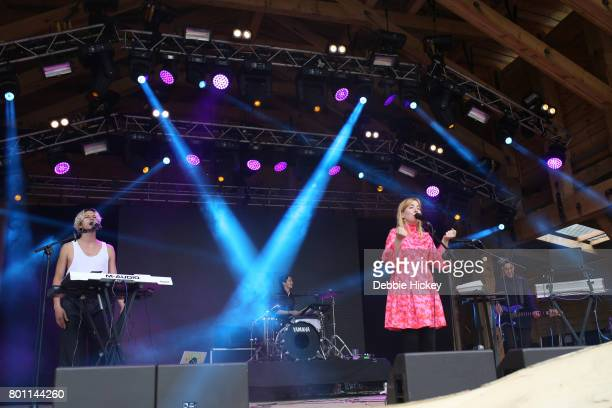 Katie Stelmanis Canadian band Austra performs at Body Soul Festival at Ballinlough Castle on June 25 2017 in Co Westmeath Ireland