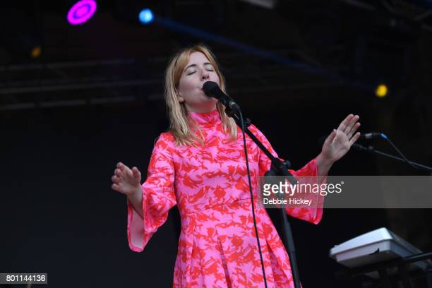 Katie Stelmanis of Canadian band Austra performs at Body Soul Festival at Ballinlough Castle on June 25 2017 in Co Westmeath Ireland
