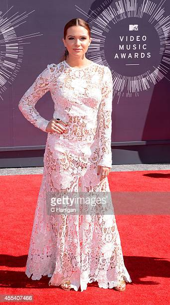 Katie Stevens arrives at the 2014 MTV Video Music Awards at The Forum on August 24 2014 in Inglewood California