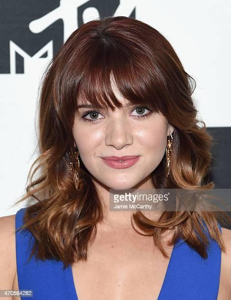 Katie Stevens attends the MTV 2015 Upfront presentation on April 21 2015 in New York City
