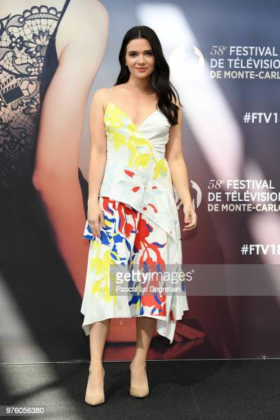 Katie Stevens from the serie The Bold Type attends a photocall during the 58th Monte Carlo TV Festival on June 16 2018 in MonteCarlo Monaco