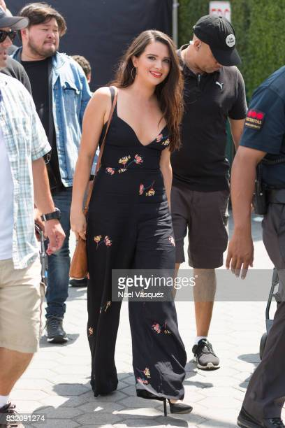 Katie Stevens visits Extra at Universal Studios Hollywood on August 15 2017 in Universal City California
