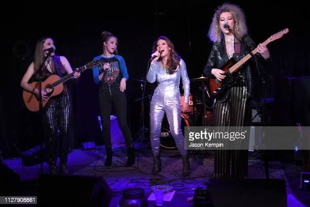 Katie Stump Kalie Shorr Dani Rose and Devon Jane of the band Honey County perform at The Local on February 06 2019 in Nashville Tennessee