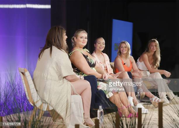 Katie Sturino Hunter Mcgrady Jasmine Sanders Paige Van Zant and Kate Bock attend the Sports Illustrated Swimsuit On Location at Ice Palace on May 10...