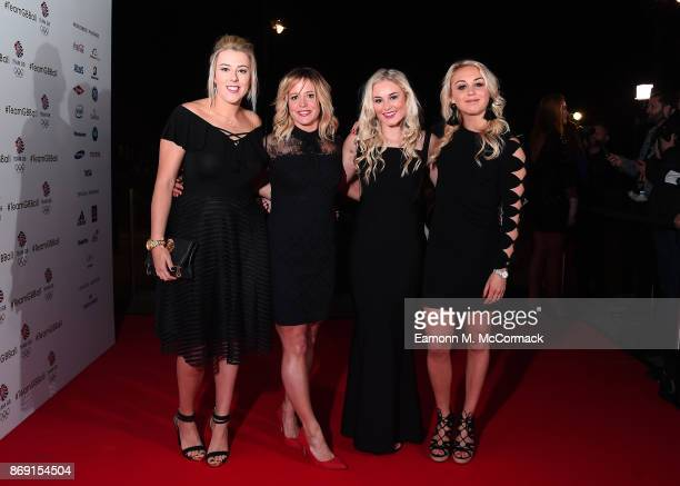 Katie Summerhayes Jenny Jones Katie Ormerod and Aimee Fuller attend the Team GB Ball at Victoria and Albert Museum on November 1 2017 in London...