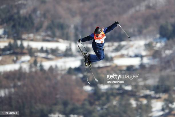 Katie Summerhayes of Great Britain competes during the Freestyle Skiing on day eight of the PyeongChang 2018 Winter Olympic Games at Phoenix Snow...