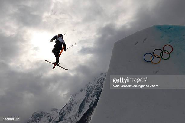Katie Summerhayes of Great Britain competes during the Freestyle Skiing Women's Slopestyle at the Rosa Khutor Extreme Park on February 11 2014 in...