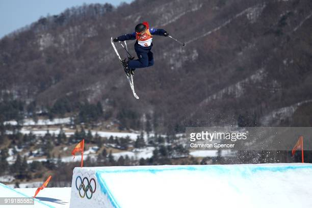 Katie Summerhayes of Great Britain competes during the Freestyle Skiing Ladies' Ski Slopestyle final on day eight of the PyeongChang 2018 Winter...