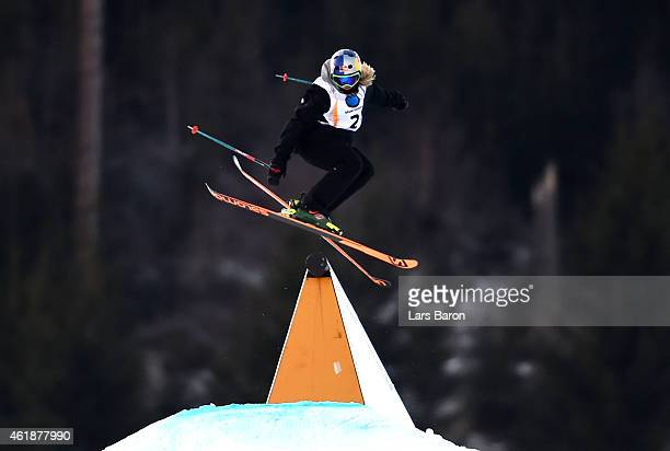 Katie Summerhayes of Great Britain competes during the Women's Freestyle Skiing Slopestyle Final of the FIS Freestyle Ski and Snowboard World...