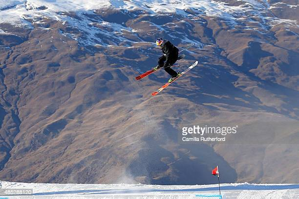 Katie Summerhayes of Great Britain competes in the FIS Freestyle Ski World Cup Slopestyle Qualification during the Winter Games NZ at Cardrona Alpine...