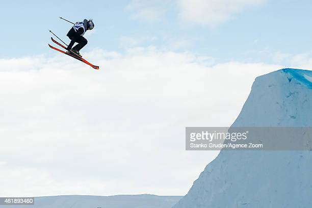 Katie Summerhayes of Great Britain takes 2nd place during the FIS Freestyle Ski World Championships Men's and Women's Slopestyle on January 21 2015...