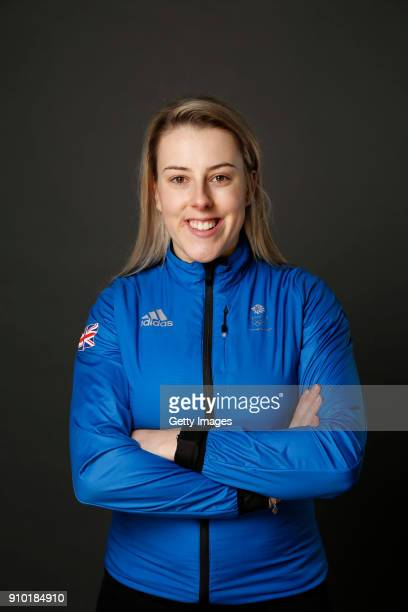 Katie Summerhayes poses at The Team GB Kitting Out Ahead Of Pyeongchang 2018 Winter Olympic Games on January 24 2018 in Stockport England