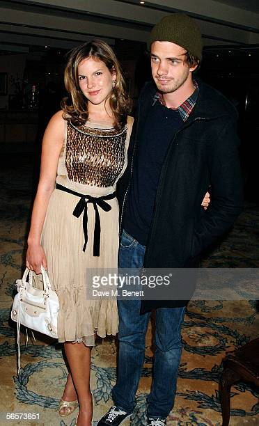 """Katie Sumner and brother Jake Sumner arrive at a drinks reception prior to the UK premiere of """"Memoirs Of A Geisha"""" at the Washington Hotel on..."""