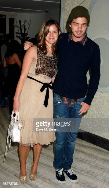 """Katie Sumner and her brother Jake Sumner attend the after show party following the UK premiere of """"Memoirs Of A Geisha,"""" at Nobu on January 11, 2006..."""