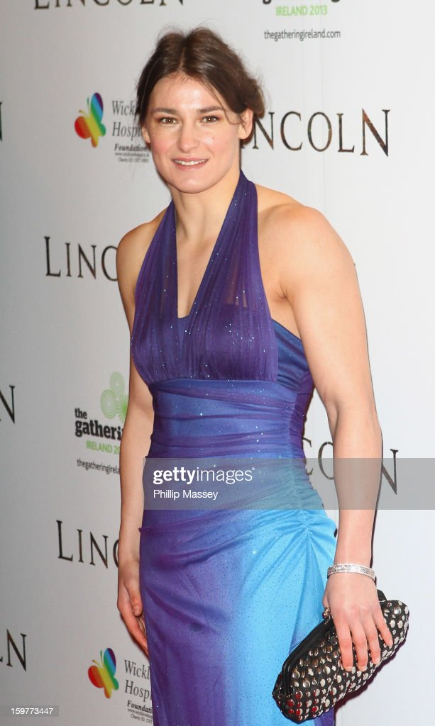 Katie Taylor attends the European premiere of 'Lincoln' on January 20, 2013 in Dublin, Ireland.