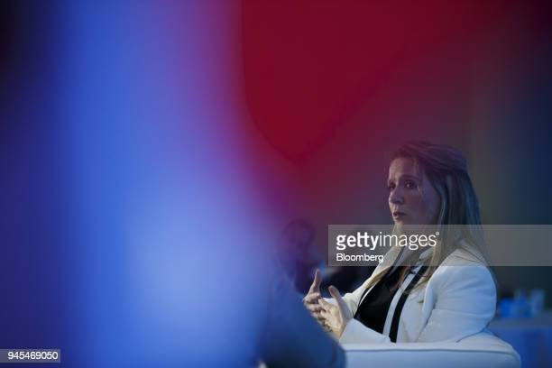 Katie Telford Canada's chief of staff speaks during a panel discussion at the Public Policy Forum Canada Growth Summit 3 in Toronto Ontario Canada on...