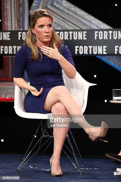 Katie Telford speaks onstage during the Northern Exposure One on One session at Fortune MPW Next Gen 2016 on November 30 2016 in Dana Point California