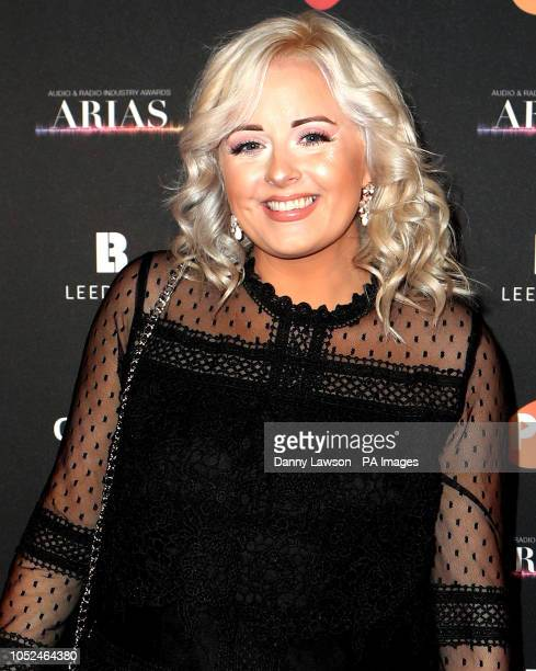Katie Thistleton arriving at the The Audio and Radio Industry Awards at the First Direct Arena in Leeds