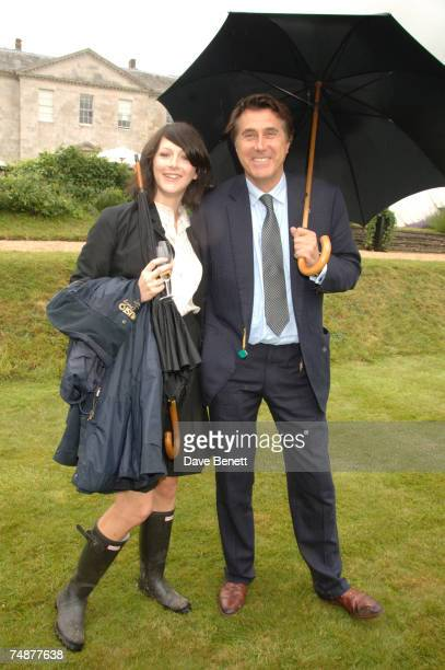 Katie Turner and Bryan Ferry attend the Cartier ''Style and Luxe'' lunch at the Goodwood Festival of Speed on the Earl of March's private lawn on...